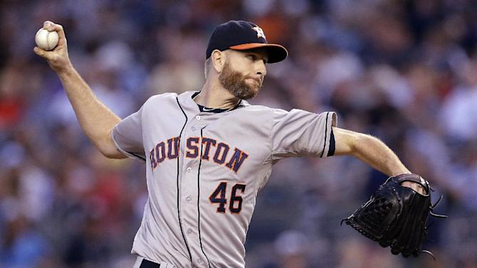 Feldman pitches Astros past slumping Yankees 5-2