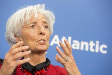 International Monetary Fund Managing Director Christine Lagarde speaks at the Atlantic Council Headquarters