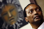 South African businessman Patrice Motsepe on May 07, 2008 in Sandton. Billionaire Motsepe announced Monday he would give half his family's fortune to a charity, matching a pledge made by Bill Gates and Warren Buffett.