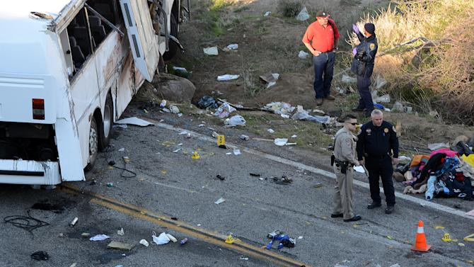 Bus passenger describes terror before Calif. crash