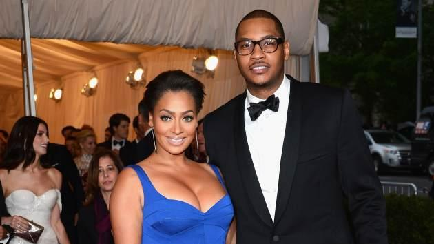 La La Anthony and Carmelo Anthony attend the 'Schiaparelli And Prada: Impossible Conversations' Costume Institute Gala at the Metropolitan Museum of Art in New York City on May 7, 2012 -- Getty Images