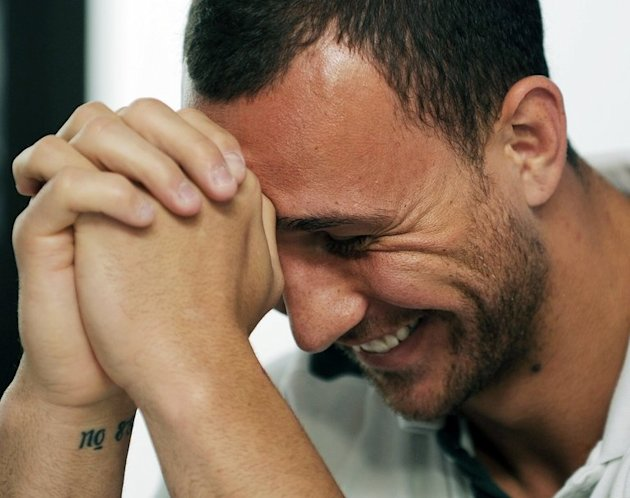 In this file photo, Quade Cooper is seen during a press conference in Auckland, on October 12, 2011