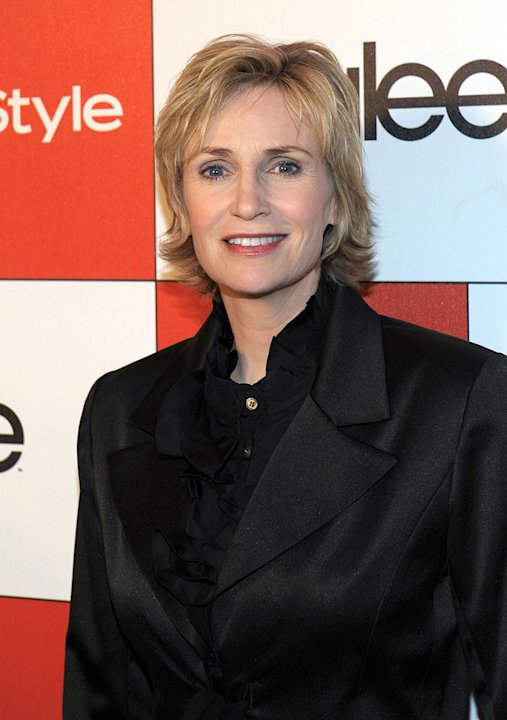 Jane Lynch attends the celebration of Glee's Golden Globe nominations with InStyle and 20th Century Fox held at Sunset Tower on January 9, 2010 in West Hollywood, California.