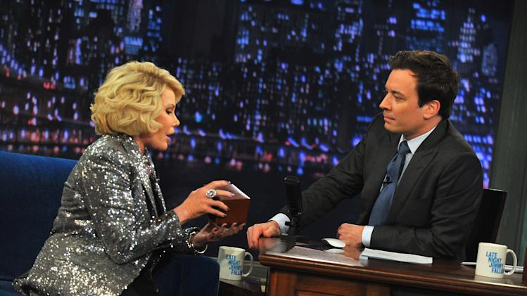 "Joan Rivers Visits ""Late Night With Jimmy Fallon"""