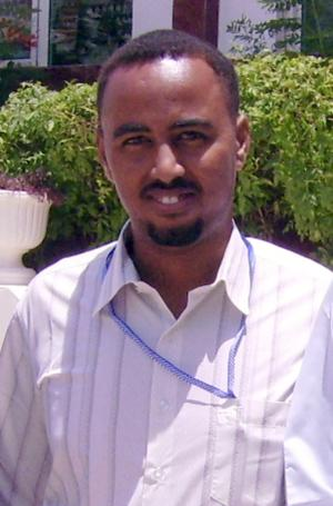 In this photo taken Monday, July 11, 2011, journalist Ahmed Saakin Farah, a reporter for the Somali television station Universal, poses for a picture as he attends an annual meeting of the Somaliland Journalists Association in Hargeisa, Somaliland, a breakaway region of Somalia. Colleagues say the Somali journalist was shot to death by gunmen Tuesday, Oct. 23, 2012 in northern Somalia, bringing the number of journalists killed in Somalia this year to 16, most in targeted attacks by gunmen who know there is little chance they will be caught or jailed. (AP Photo/Barkhad Kaariye)