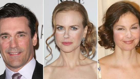 Jon Hamm/Nicole Kidman/Ashley Judd -- Getty Images