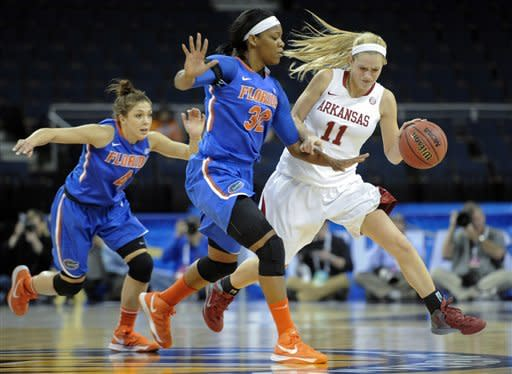 Bonds leads Florida women past Arkansas 64-59