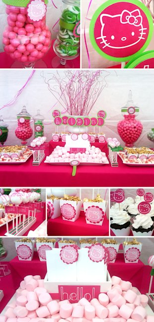 Hello Kitty-themed birthday party