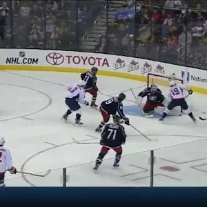 Curtis McElhinney Save on Alex Ovechkin (04:05/2nd)