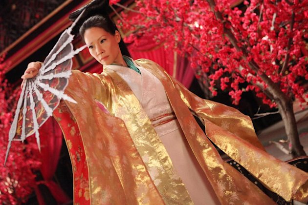 "This image released by Universal Pictures shows Lucy Liu in a scene from ""The Man With the Iron Fists."" (AP Photo/Universal Pictures)"