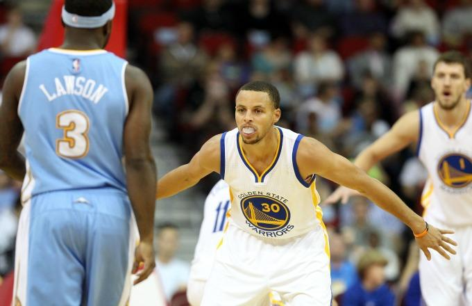Stephen Curry Scoffs at Ty Lawson's Lack-of-Defense Accusation in 2015 NBA Playoffs