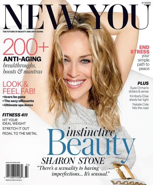Sharon Stone on the cover of New You (Summer 2013)  --