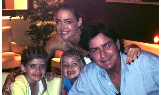 Denise Richards & Charlie Sheen's Family Dinner
