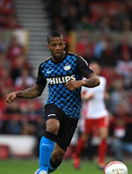 Jeremain Lens scored the opener in PSV&#39;s victory over Napoli