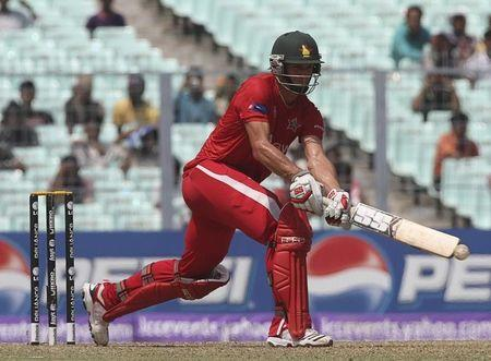 Zimbabwe's Craig Ervine plays a shot during their ICC Cricket World Cup group A match against Kenya in Kolkata