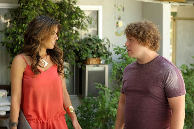 "Alexis Krause as Mandy and Michael Blaiklock as Sam on ""My Secret Girlfriend."""