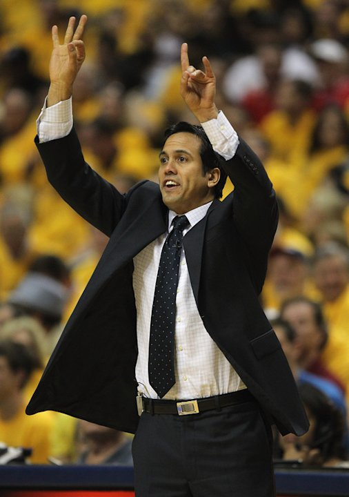 Head Coach Erik Spoelstra Of The Miami Heat Gives Getty Images