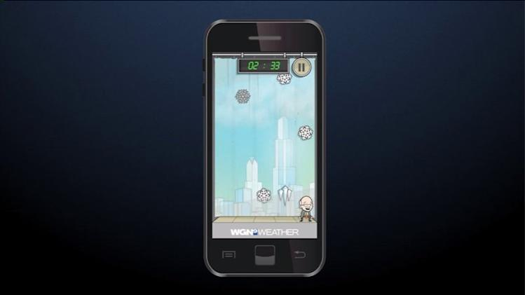 Help Tom Skilling counquer the weather through the weather game app available next Thursday