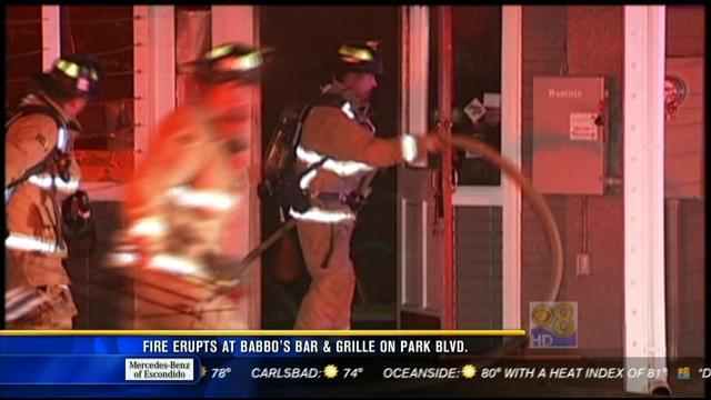 Fire erupts at Babbo's Bar and Grille on Park Boulevard