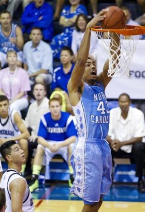 No. 9 North Carolina routs Chaminade 112-70
