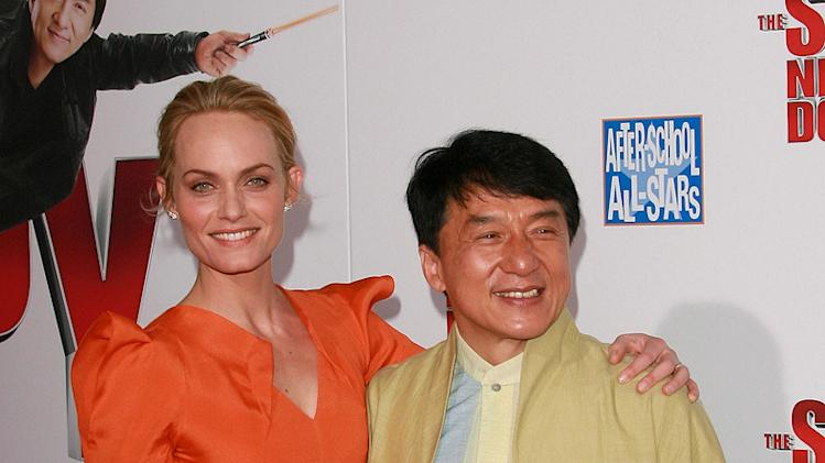 The Spy Next Door LA Premiere 2010 Amber Valetta Jackie Chan