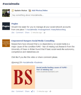 Facebook Updates: Hashtags and Filtering Pages in the Newsfeed image Facebook hashtags 2