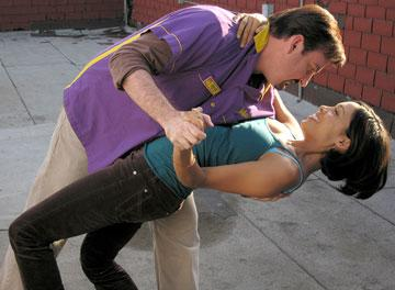 Brian Christopher O'Halloran and Rosario Dawson in The Weinstein Company's Clerks II