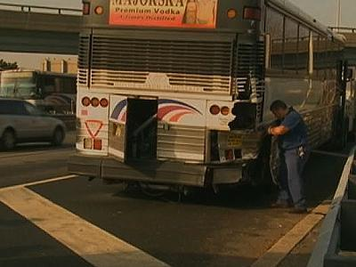 Raw: Bus accident closes Lincoln Tunnel