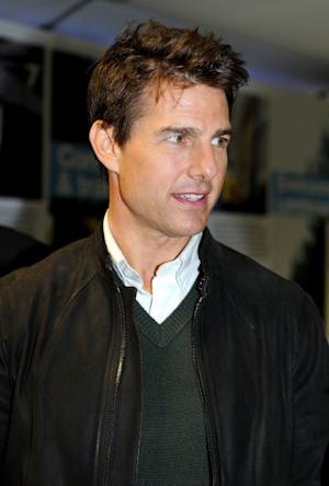 Tom Cruise steps out at the Manchester derby at Etihad Stadium on December 9, 2012 in Manchester, England -- Getty Images