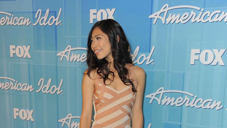 Jessica Sanchez poses backstage at the American Idol Finale on Wednesday, May 23, 2012 in Los Angeles. (Photo by Jordan Strauss/Invision/AP)