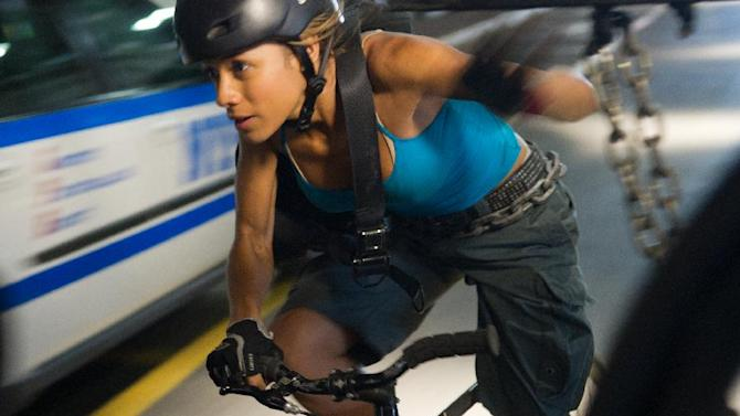 """This film image released by Columbia Pictures shows Dania Ramirez in a scene from """"Premium Rush."""" (AP Photo/Columbia Pictures - Sony, Sarah Shatz)"""