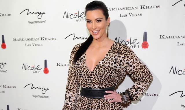 Kim Kardashian Doused With Powder At Event