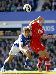 Nikica Jelavic, left, grabbed a brace for Everton