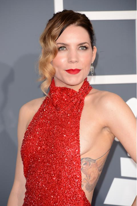 Skylar Grey arrives at the 55th Annual GRAMMY Awards at Staples Center on February 10, 2013 in Los Angeles, California.
