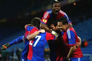 Basel 3-0 Valencia: Delgado double puts Swiss side on brink of last four