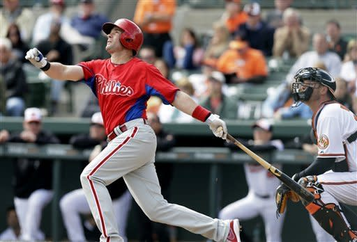 Wieters knocks in 5, Orioles beat Phillies 12-3