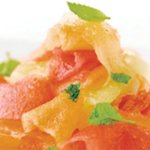 Shaved Melon Salad with Mint Sugar
