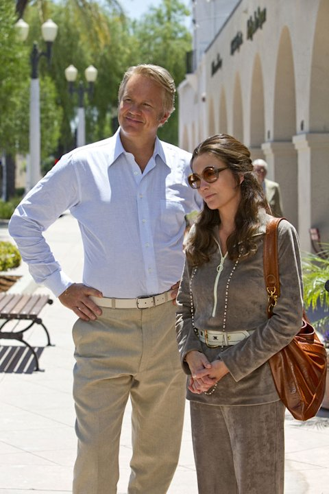 "Tim Robbins as Bill Loud and Diane Lane as Pat Loud in ""Cinema Verite."""