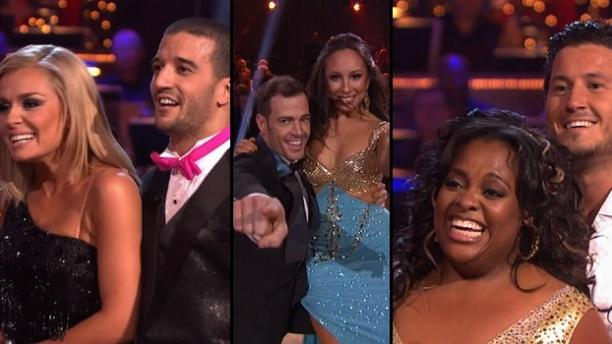 Katherine Jenkins and Mark Ballas, William Levy and Cheryl Burke, Sherri Shepherd and Val Chmerkovskiy -- ABC