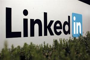 The logo for LinkedIn Corporation is shown in Mountain View, California February 6, 2013. REUTERS/Robert Galbraith/Files