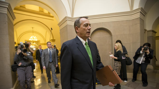 'Cliff' bill to House, but doubts on spending cuts