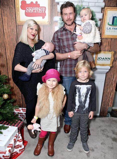 "Tori Spelling on Raising Four Children: ""It's Overwhelming!"""