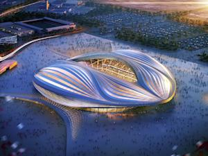 A computer-generated image released by the Organising Committee of Qatar 2022 shows the stadium to be built in Al-Wakrah for the 2022 World Cup in Qatar