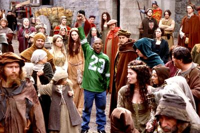 Martin Lawrence as Jamal, a fast-talking con-man who finds himself sticking out in a crowd of medieval peasants in 14th century England in 20th Century Fox's Black Knight