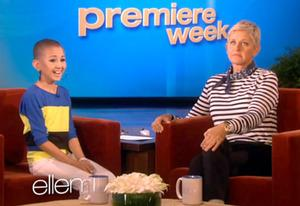 Talia Joy Castellano, Ellen DeGeneres | Photo Credits: Ellen TV