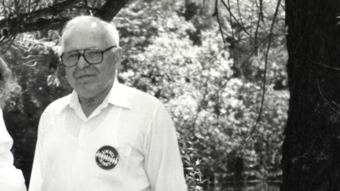 In this May 22, 1990 photo, Michael Karkoc, photographed in Lauderdale, Minn. prior to a visit to Minnesota from Soviet President Mikhail Gorbachev in early June of 1990. Karkoc a top commander whose Nazi SS-led unit is blamed for burning villages filled with women and children lied to American immigration officials to get into the United States and has been living in Minnesota since shortly after World War II, according to evidence uncovered by The Associated Press. (AP Photo/The St. Paul Pioneer Press, Chris Polydoroff)