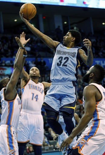 Durant scores 36 as Thunder beat Grizzlies 101-94