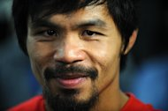 Philippine boxing hero Manny Pacquiao during a press conference in Hollywood, California, on April 20, 2011. Pacquiao will battle US fighter Brandon Rios in Macau in November, in a match that promoters hope will ignite Chinese interest in big-time boxing