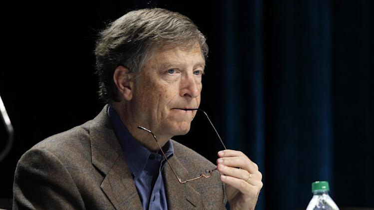 Microsoft Corp. founder and chairman Bill Gates listens to a question during Microsoft's annual meeting of shareholders, Wednesday, Nov. 28, 2012, in Bellevue, Wash. (AP Photo/Ted S. Warren)