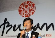 Lee Yong-Kwan, director of the Busan International Film Festival, speaks during a press conference in Seoul. A Hong Kong action-thriller and a rural drama from Bangladesh will open and close Asia&#39;s top film festival next month, as its South Korean hosts look to share more of the spotlight with regional offerings